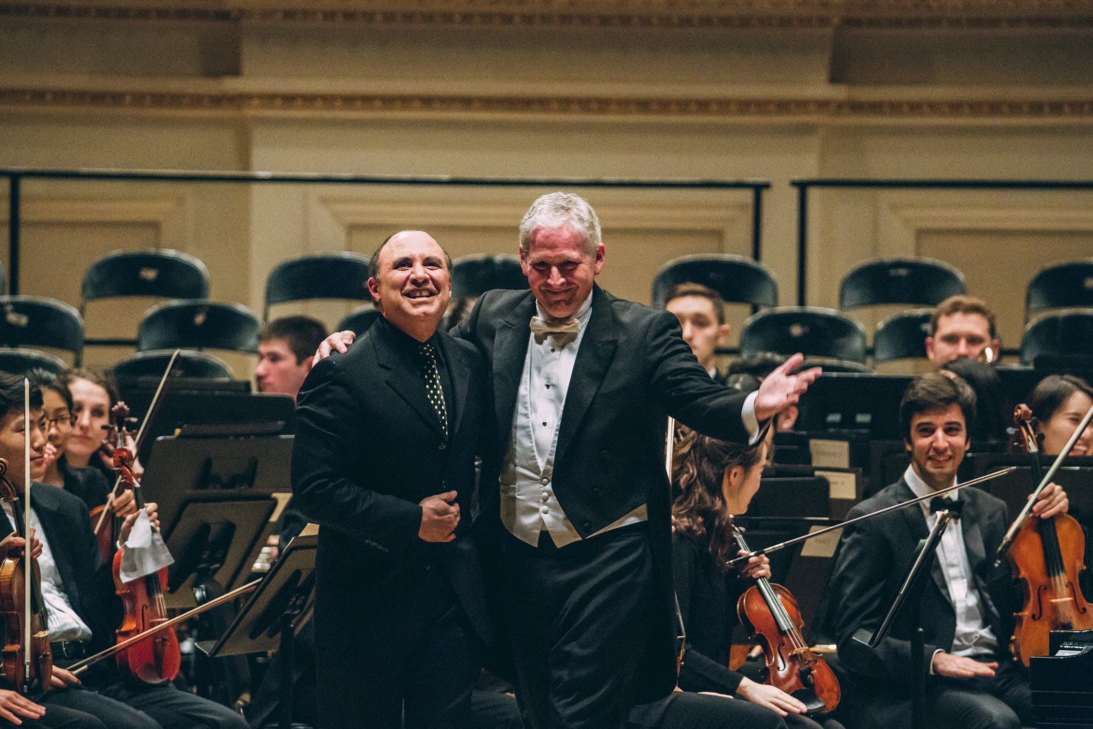 Michel Camilo with Richard Kessler at Carnegie Hall